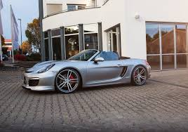 silver porsche boxster 2017 techart 981 718 lowering springs