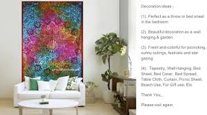 popular home decor india handmade psychedelic tapestries future