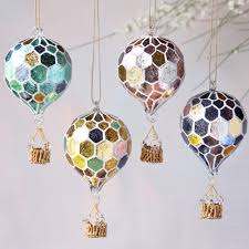 one hundred eighty degrees glass air balloon ornament
