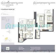 address fountain views 3 floor plans justproperty com