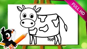 coloring pages fascinating cow drawing for kids face cute cows