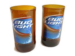 Bud Light Aluminum Bottle Bud Light Set Of 2 Beer Bottle Glasses Table Lamps Tumblers