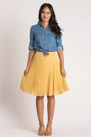 midi skirt camille mustard yellow pleated midi skirt morning lavender