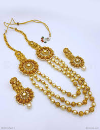 white stone necklace sets images Buy beautiful white polki stones necklace set online high quality jpg
