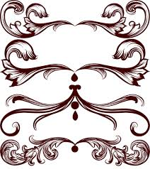 4 classical ornament brushes photoshop brushes free