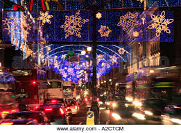 Christmas Decorations London Cheap by Christmas Lights And Decorations In Regent Street London England