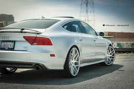 Silver Mustang Black Rims 2012 Audi A7 Fitted With 22 Inch Bd 3 U0027s In Silver Machined Face