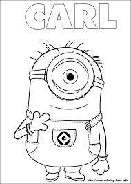 coloring outstanding minion color sheets coloring