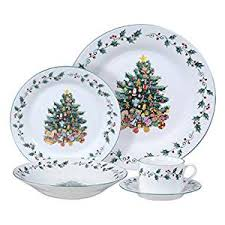 gibson home tree trimming 20 ceramic dinnerware