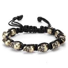 bracelet skull images Skull bracelet with crystals chimujewelers jpg