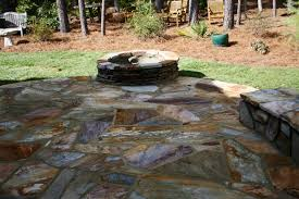 Dry Laid Bluestone Patio by Flagstone Patio Using A Blend Of Carolina Rose And Mohave Stone