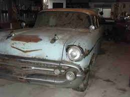 Barn Finds Cars Purchase Used 57 Chevy Bel Air Barn Find Classic Survivor Project