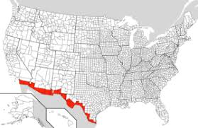 map us mexico border states mexico united states border