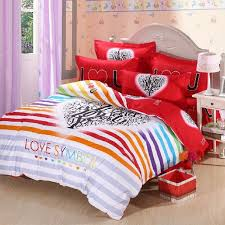 Cute Comforter Sets Queen Aliexpress Com Buy Red Striped Love Wedding Cute Bedding