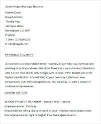 Project Manager Resumes Examples by Manager Resume Examples 24 Free Word Pdf Documents Download