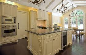 Casual Chandeliers French Provincial Kitchen Kitchen Traditional With Beams