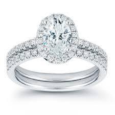 wedding set oval brilliant 1 50 ctw vs2 clarity i color diamond