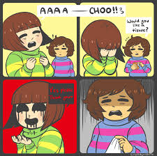 Sneeze Meme - oh gross chara you re supposed to sneeze into your elbow not