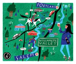Oregon Wine Country Map by Willamette Valley Wine Country U2014 Libby Vanderploeg