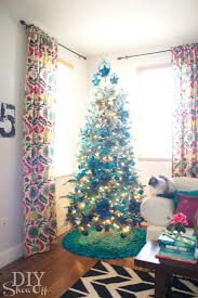 Christmas Tree With Blue Decorations - michaels dream tree challenge ombre christmas tree diy show