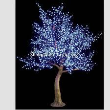 outdoor pre lit blue artificial led cherry blossom tree light