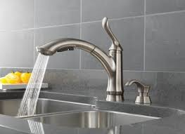 delta ashton kitchen faucet brushed nickel delta savile stainless 1 handle pull kitchen