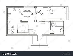home design studio mac free linear architectural sketch plan studio house stock vector india