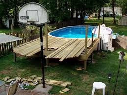 pictures of above ground pools with decks pavillion home designs