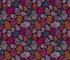 hamsa of fatima moroccan arabic ornament pattern fabric