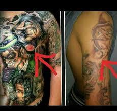 Old Man Tattoo Meme - some guy tried to copy my tattoo artist s work nipple tattooed