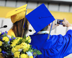 blue cap and gown all aberdeen high seniors will graduate in same color caps and gowns