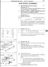1997 toyota tacoma repair manual rear wheel toe adjustment toyota nation forum toyota car and