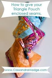 Tutorials By A Triangle Pouch Tutorial Unlined Pouch Using A 4