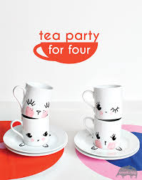 decorate your own tea cup diy tea party set for kids espresso cups diy kids crafts and
