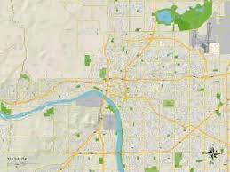 map of tulsa maps of oklahoma posters at allposters com
