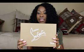 my first pair ever christian louboutin unboxing hi elisa try