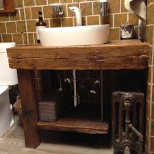 reclaimed wood bathroom vanities of white finish stained wooden