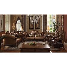 oak livingroom furniture acme furniture dresden livingroom set with pillows in golden brown