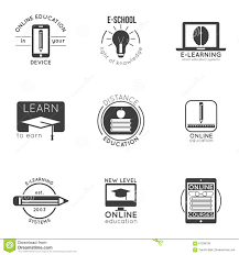 design online education e learning and online education logo set vector badges for logo