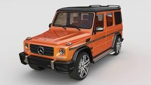 orange mercedes mercedes benz g class 3d model cgtrader