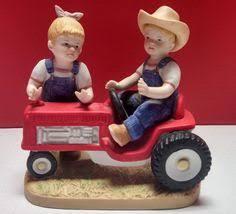 Home Interior Denim Days Figurines by Homco Home Interiors Denim Days First Tractor 1985 Figurine 1525