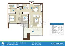 5 Bedroom Apartment Floor Plans by Floor Plan Of Acacia At Park Heights Dubai