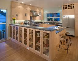 china cabinet display kitchen contemporary with recessed lighting