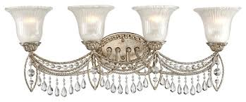 Best Crystal Bathroom Vanity Light 3 Fixture Feiss Within Lights 4 Light Bathroom Fixture