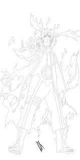 naruto sage of six paths mode lineart by johnny wolf on deviantart