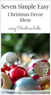 simple easy christmas decor box of christmas balls