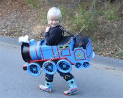 Halloween Costume 1 Boy Coolest Homemade Gordon Train Child Halloween Costume Idea