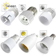 light bulb connector types cheap universal home gu10 e27 e14 b22 led bulb adapter socket base