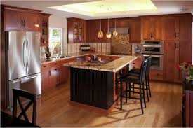 black kitchen island black wooden cabinets underneath rectangle
