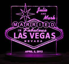 Wedding Cake Las Vegas Las Vegas Wedding Cake Topper Personalized Acrylic Light
